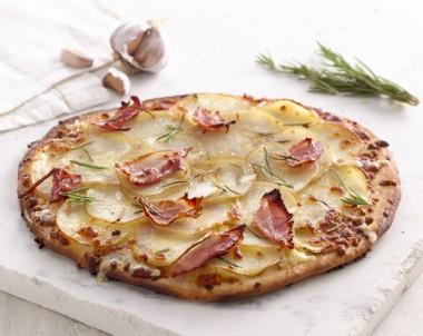 Potato, Rosemary and Speck Pizza