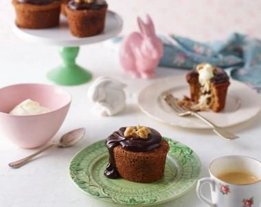 Mini Date, Chocolate & Walnut Easter Cake