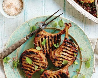 Grilled Pork Chops with Citrus Quinoa Salad