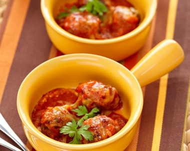 Pork Veal Meatballs With A Rich Tomato Sauce Recipe