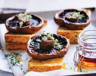Baked Mushrooms with French Toast