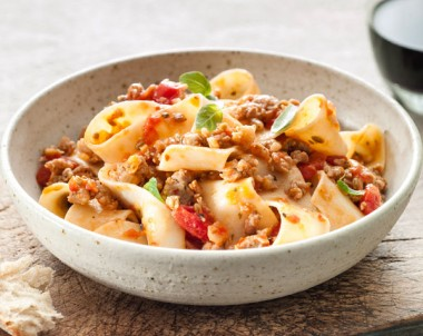 Ribbon Pasta with Tomato & Fennel Sausage