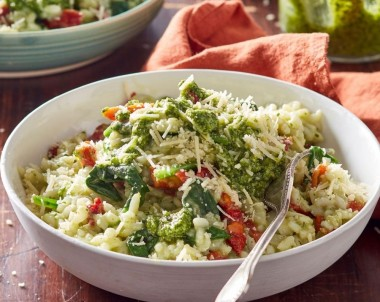 Vegetarian Pesto Risotto recipe