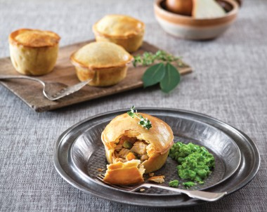 Pear, Rabbit and Green Olive Pies