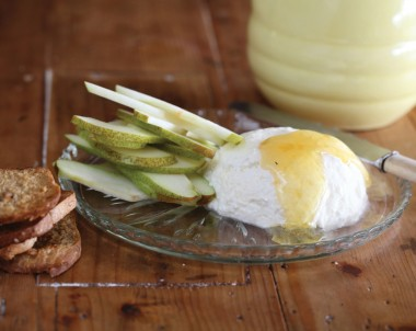 Ricotta, Honey and Pears