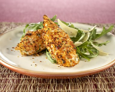 Sun Dried Tomato and Parmesan Crumbed Chicken Strips
