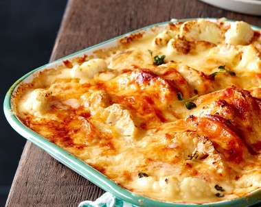 Creamy Sweet Potato Bake with cauliflower