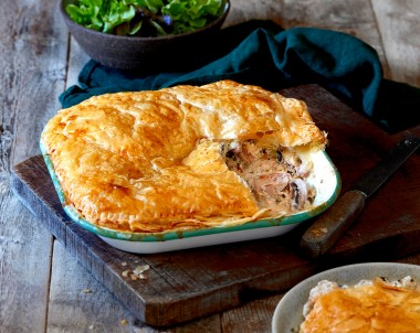 Rustic Chicken, Ricotta and Herb Pie