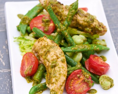 Primavera Salad with Pesto Chicken Recipe