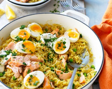 Salmon kedgeree recipe with eggs