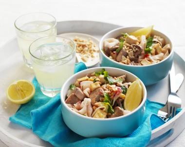 Homemade Pork Pad Thai Noodles Recipe