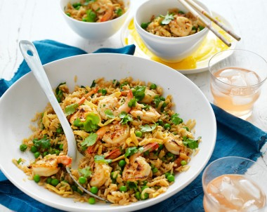 Garlic Prawns and Sweet Chilli Fried Rice