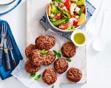 Turkey Rissoles with Panzanella Salad