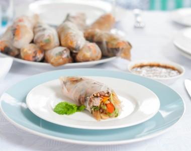 Lemongrass Turkey Rice Paper Rolls