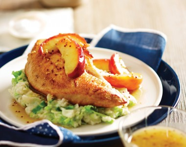 Pan Fried Turkey Breast Fillet with Apples and Colcannon