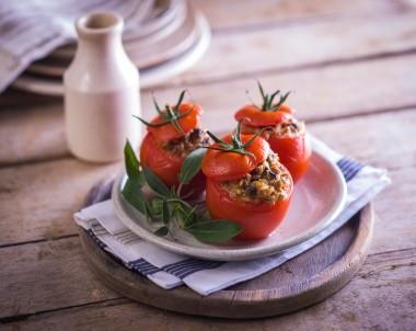 Stuffed Tomatoes recipe with turkey mince