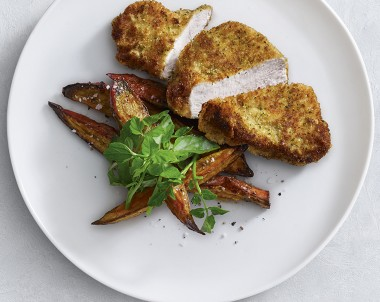 Crumbed turkey breast recipe is a delicious lunch or dinner idea.