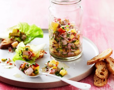 White Fish and Nectarine Ceviche