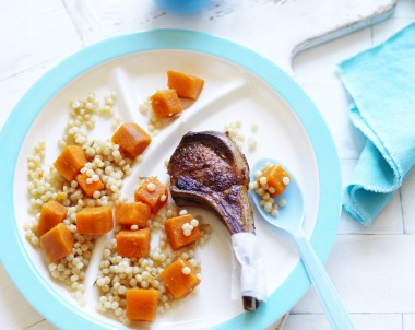 Lamb Cutlets with Sweet Potato and Pearl Couscous