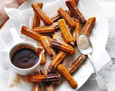 Sweet Potato Churros with Cacao Dipping Sauce