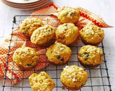 Sweet Potato, Spinach and Feta Muffins