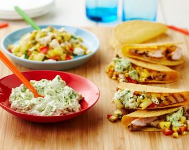 Healthy Mexican chicken tacos