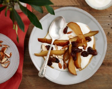 Roasted Honey Pears with Yoghurt