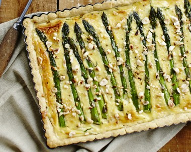 Tilsit, Asparagus and Tarragon Tart Recipe