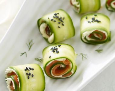 Cucumber Salmon Rolls