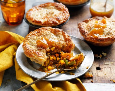 Vegetarian Tikka Masala Curry Pies