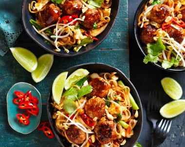 Turkey Meatball Pad Thai recipe