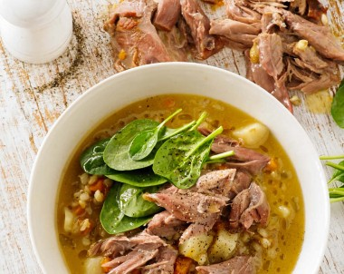 Veal Shank Barley Soup Recipe by Monday Morning Cooking Club