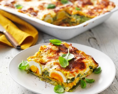 Vegetable Lasagne recipe made with pumpkin