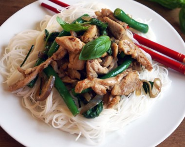 Chilli and Basil Chicken Stir Fry