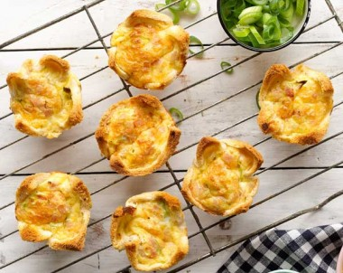 Ham and Cheese Mini Quiche recipe