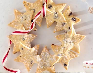 Christmas Shortbread Star Wreath Recipe