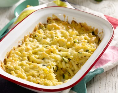 Quick Macaroni, Cheese and Veggie Bake