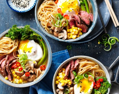 Beef Ramen soup recipe with eggs