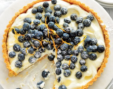 No-bake blueberry and ricotta tart recipe