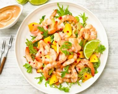 Mango prawn salad recipe
