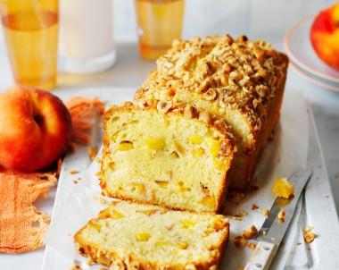 Peach loaf cake recipe