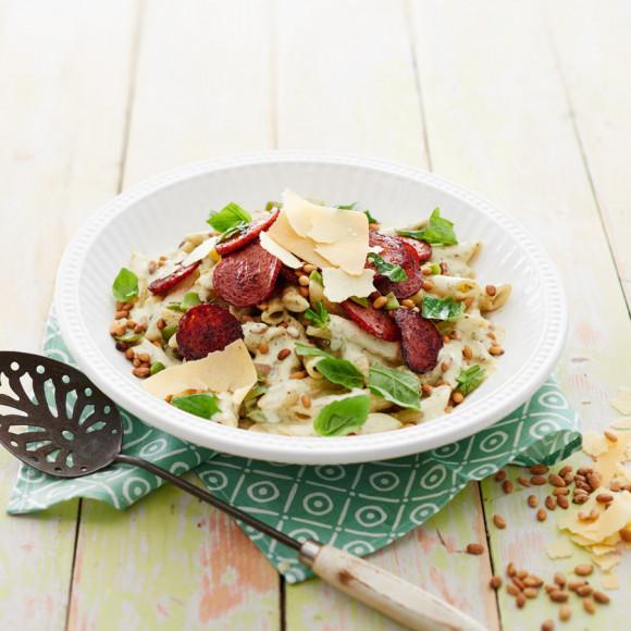 Retro Pesto Pasta Salad