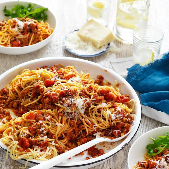 Beef and Mushroom Spaghetti Bolognese Recipe