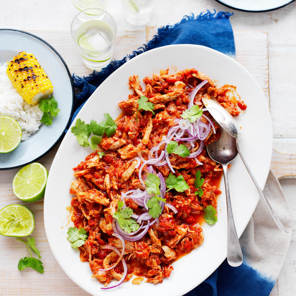 Ardmona slow cooked tomato pulled chicken recipe myfoodbook slow cooked tomato pulled chicken forumfinder Images