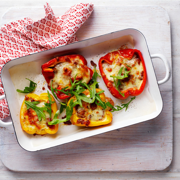 Bolognese Baked Capsicums