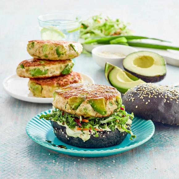 Chicken avocado burger recipe