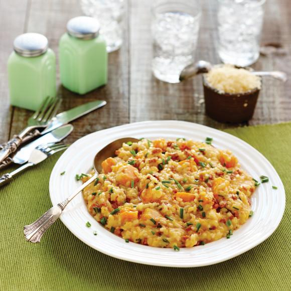 Chorizo, Roast Pumpkin and Chive Risotto Recipe