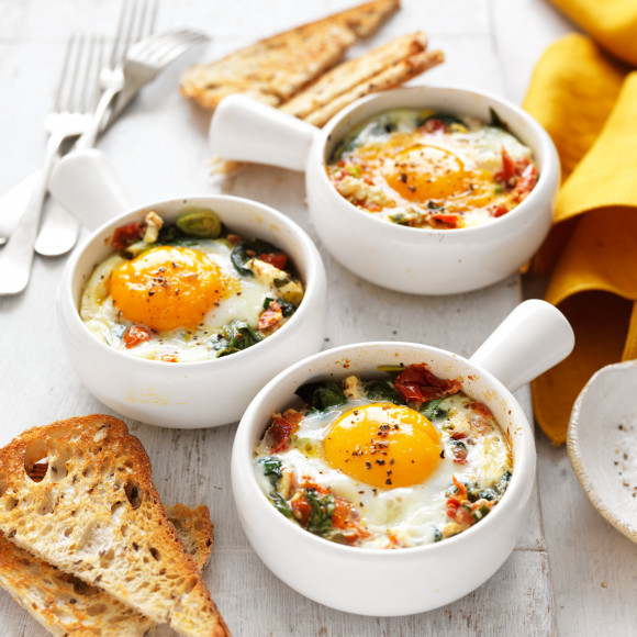 Baked Eggs Recipe Myfoodbook Oven Baked Eggs Recipe