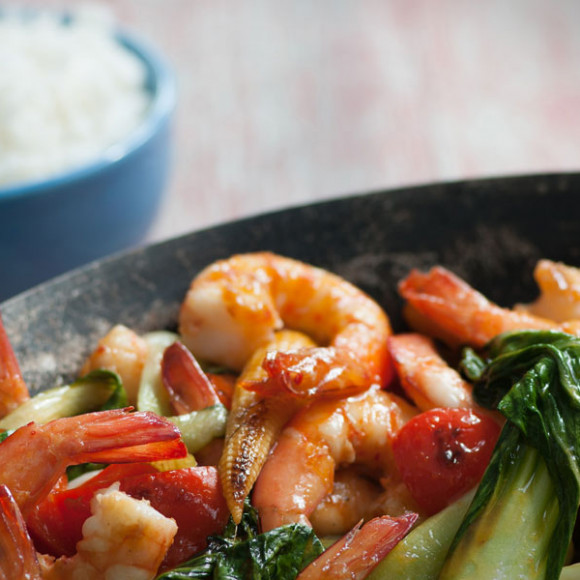 Lemongrass and Chilli with Prawns
