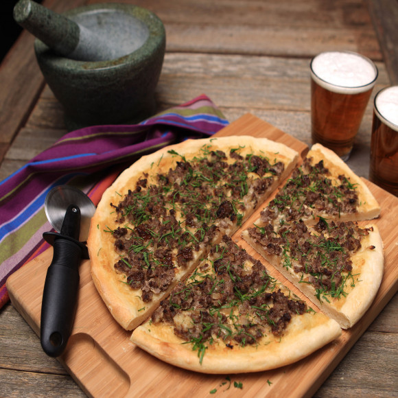 Middle Eastern Lamb Pizza